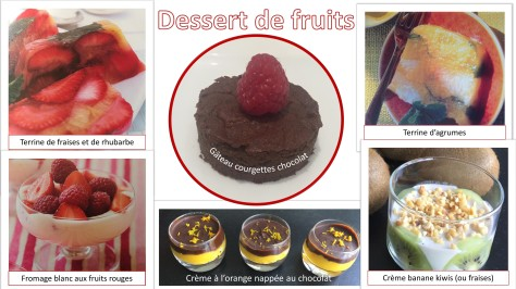 Desserts de fruits
