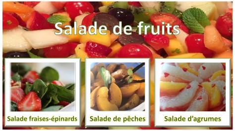 Salades de fruits